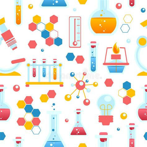 pattern lab download chemistry seamless pattern stock vector illustration of