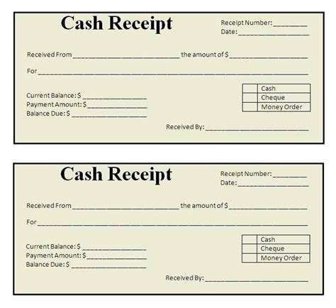 receipt book template free download best receipt template