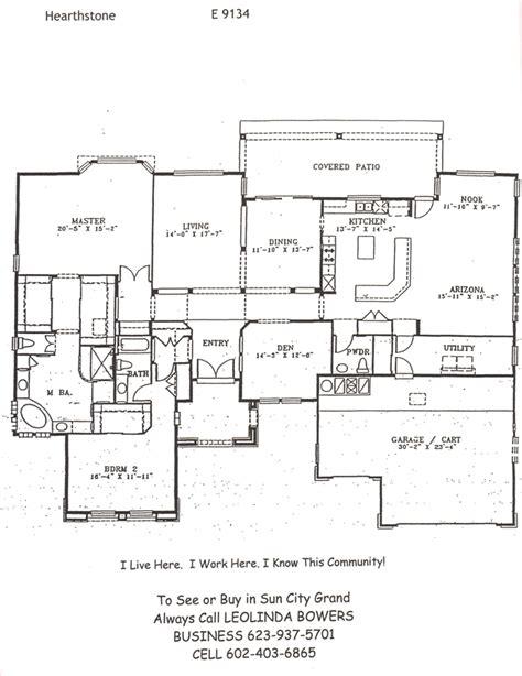find sun city grand hearthstone floor plan leolinda