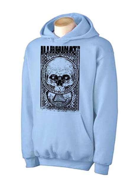 illuminati hoodie illuminati skull hoodie conspiracy theory nwo t shirt