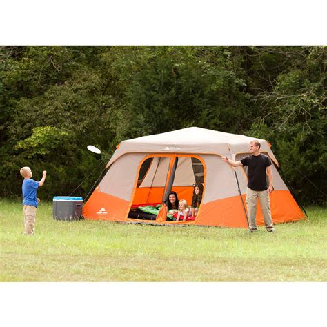 Ozark Trail 8 Person Instant Cabin Tent by Ozark Trail 8 Person Instant Cabin Tent Outdoor Shelter Waterproof Hiking Cabin