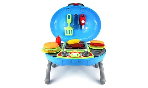 Bbq Playset by Velocity Toys Outdoor Bbq Grill Pretend Play Kitchen