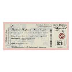 Airline Ticket Template Invitation by Airline Ticket Wedding Invitation Zazzle