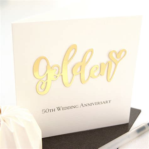 50th Wedding Anniversary Cards by Golden 50th Wedding Anniversary Card Shop