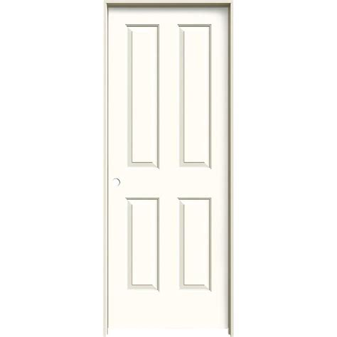 Shop Jeld Wen Coventry Moonglow 4 Panel Square Single Prehung Interior Door