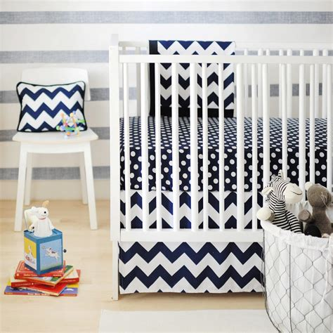 Navy Chevron Baby Bedding Navy Chevron Crib Bedding
