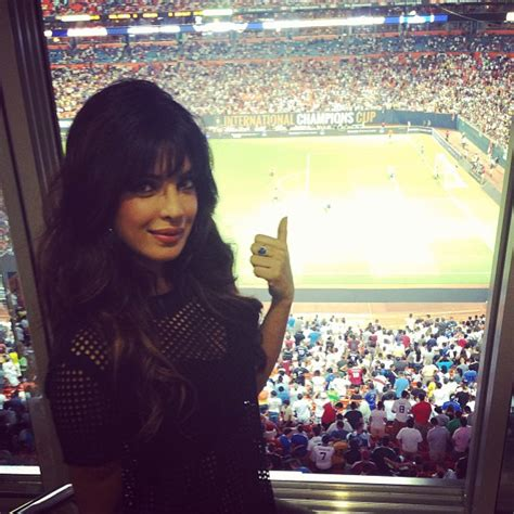 priyanka chopra meets cristiano ronaldo priyanka chopra watch the real madrid vs chelsea match