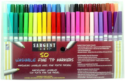 color markers sargent 22 1581 50 count tip washable