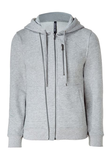 Sweater Zip Hoodie Hearther Grey Zlstore neil barrett grey zip hoodie in gray for grey lyst