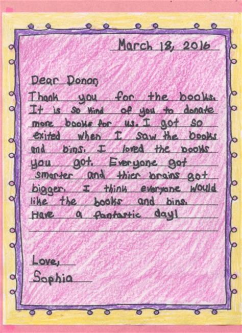 Thank You Letter To 2nd Grade Guidelines For Student Thank Yous Help Center