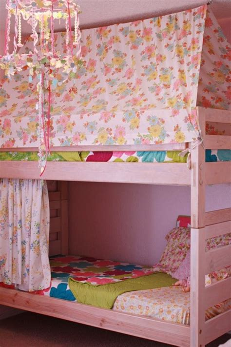 bottom bunk curtains bunk beds for a girl centsational girl