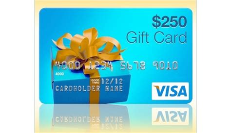 Visa Five Back Gift Card - 250 visa gift card