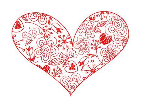 hearts drawing   clip art  clip art