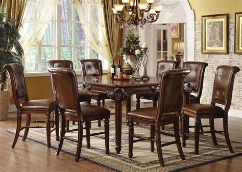 tall dining room set von furniture winfred counter height dining room set