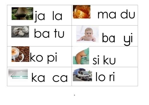 Ma Ja Ka Ni Ka N Za Original Diskon latihan membaca suku kata terbuka kv