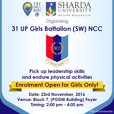 Sharda Mba Fees by 31 Up Battalion Ncc Launch At Sharda On