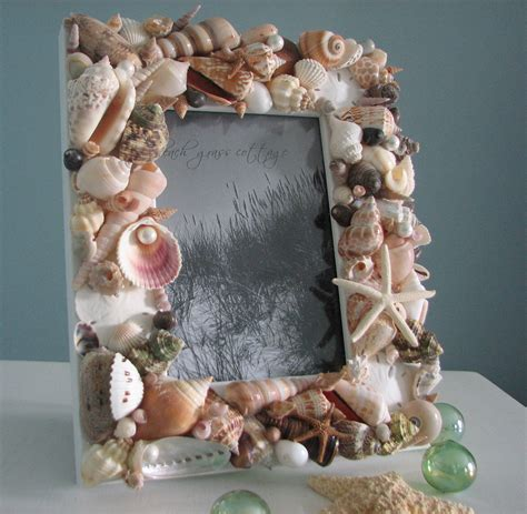 seashell decorations home beach decor seashell frames nautical decor natural shell