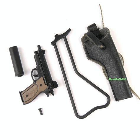 hush puppy pistol toys navy seal in m63a gunner 1 6 scale hush puppy pistol set ebay