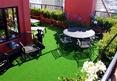 Gardening Ideas For Small Balcony by The Synthetic Grass For Balcony And Terrace Easy To