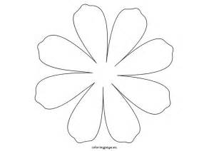 Flower With Petals Template by Large Petal Template Printable Flower 8