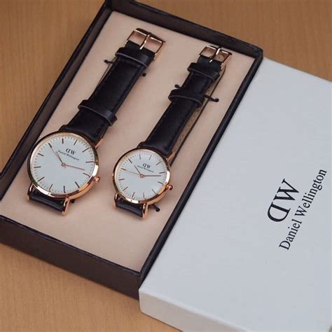 Jual Jam Tangan Dw Daniel Wellington Leather Tali Leather Kulit daniel wellington set leather black for on carousell