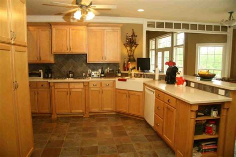 Kitchen Designs With Oak Cabinets maple kitchen cabinets with white countertops