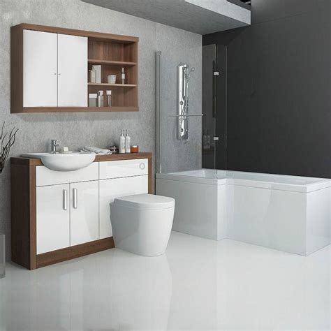 ways  build  modern bathroom suite   uk