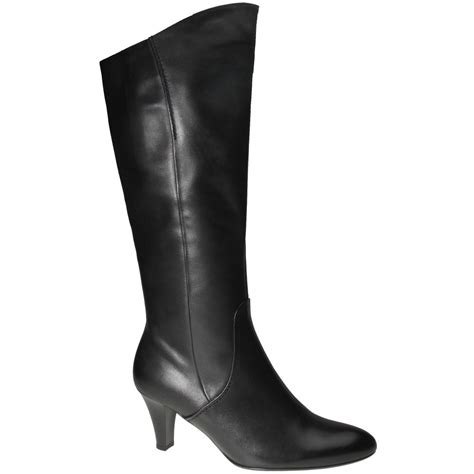 womans black boots gabor izzy black leather womens boots gabor from