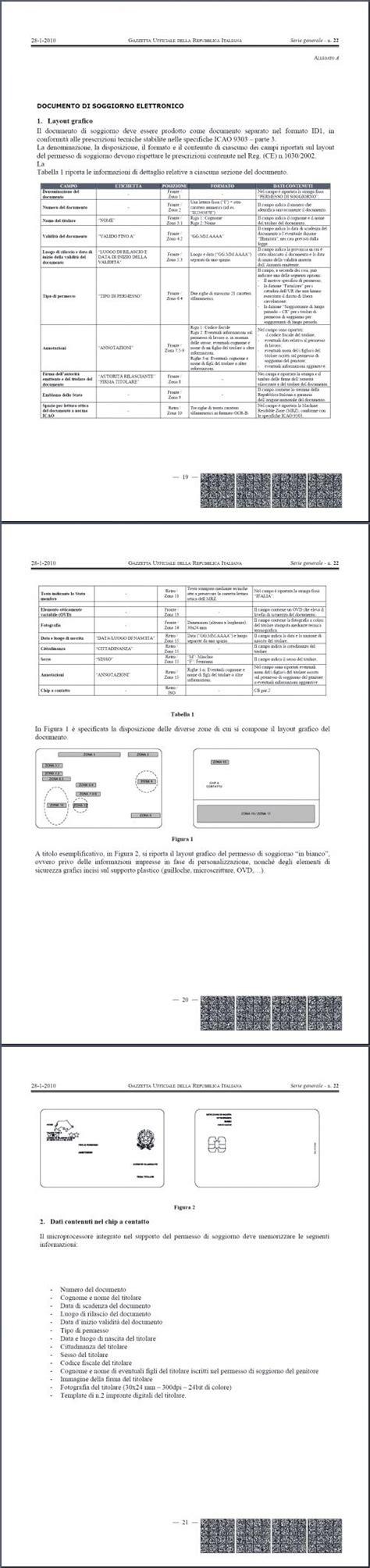 ministero interno carta di soggiorno permesso e carta di soggiorno in una card elettronica