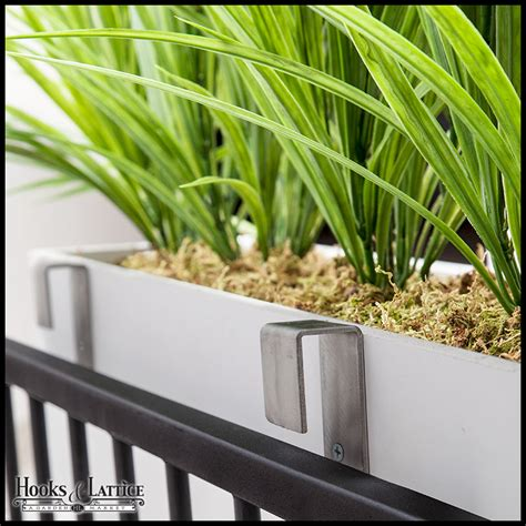 flower box deck brackets window box brackets for railings