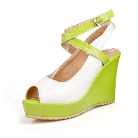 cheap platform wedge sandals cheap fashion peep toe platform wedge high heel