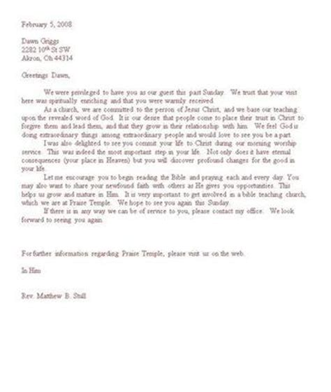 thank you letter to guest pastor sle thank you letter to guest pastor church letters