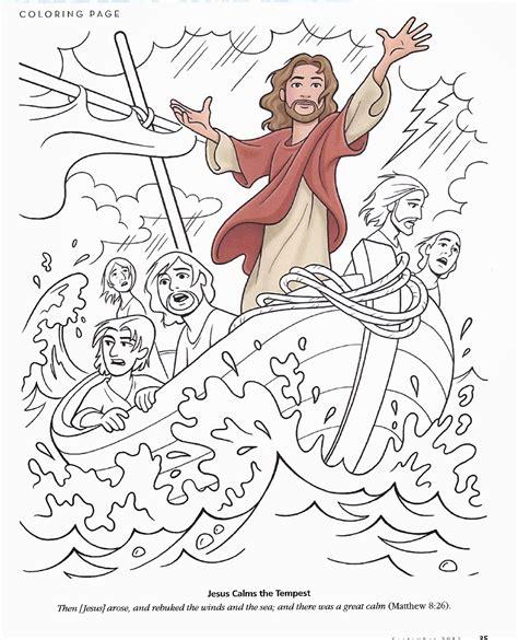 jesus calms the storm coloring page chuckbutt com