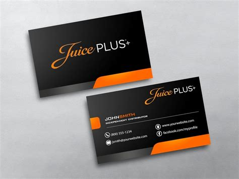 juice plus business cards free shipping