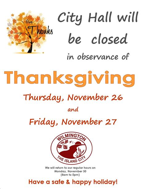 Free Closed For Thanksgiving Sign Template Festival Collections Thanksgiving Business Hours Template