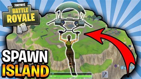 fortnite island flying to spawn island in fortnite