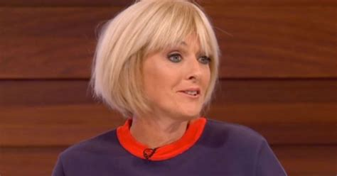 pictures of jane moores new hairstyle flexible jane moore does the splits on loose women as she
