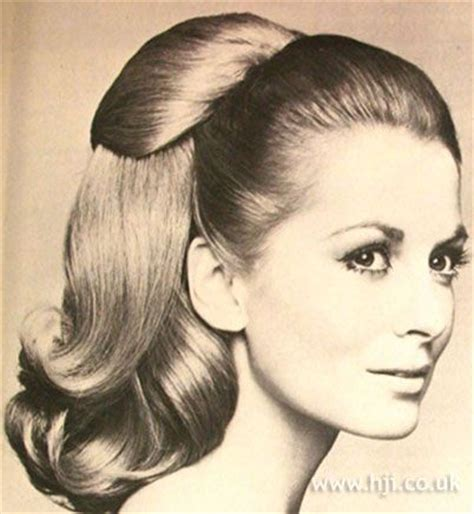 Barrel Curl Hairpieces | 1968 blonde ponytail hairstyle blonde was pulled into a