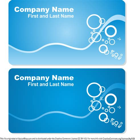 sea business card templates free vector in encapsulated postscript eps eps vector