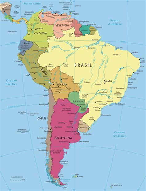 mapa a america do sul mapa america threeblindants