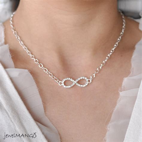 infinity bff necklace silver infinity necklace everyday infinity jewelry