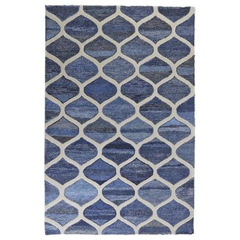 Area Rugs Pier One Denim Ogee Rug 5x8 Pier 1 Imports