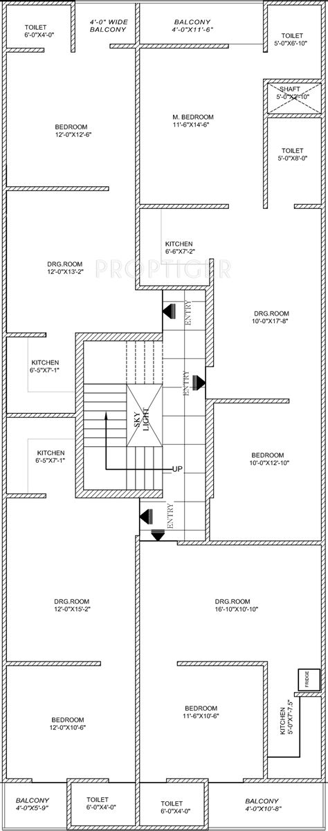 layout plan of palam vihar 650 sq ft 1 bhk 1t apartment for sale in ompee homes 15