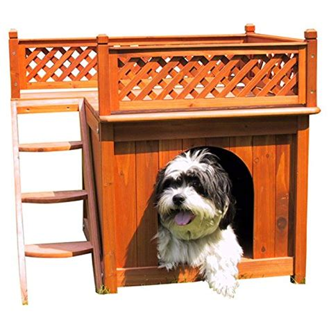 balcony view dog house dog house merry pet wood room with a view cedar deck balcony steps