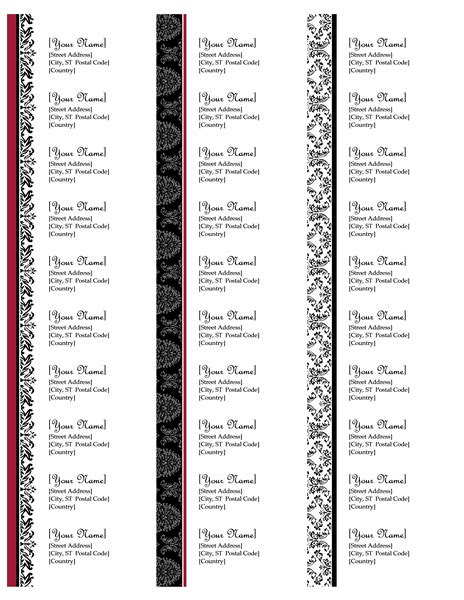 mailing address labels template freeprintablechristmasaddresslabels