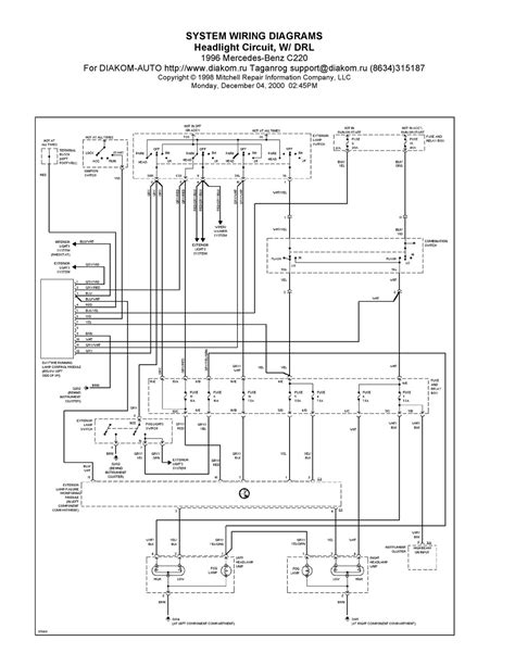 1996 mercedes c220 system wiring diagrams headlight