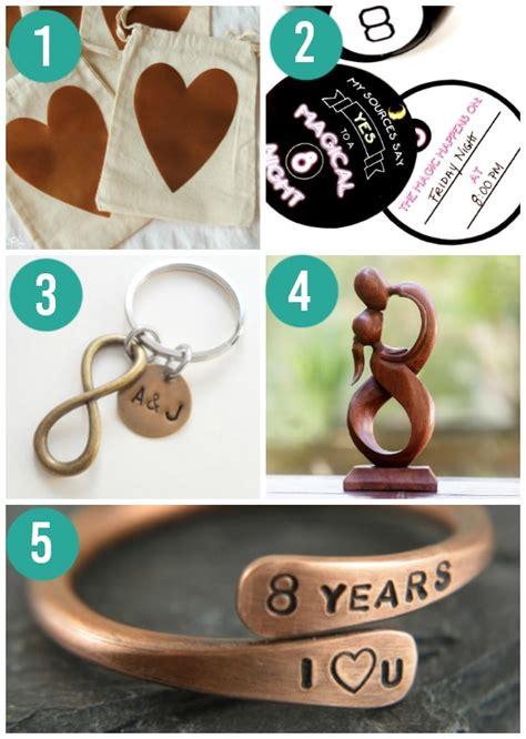 wedding anniversary gift bronze anniversary gifts by year