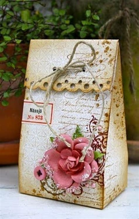 Handmade Wedding Gift Ideas - diy vintage wedding favors handmade vintage gift bag