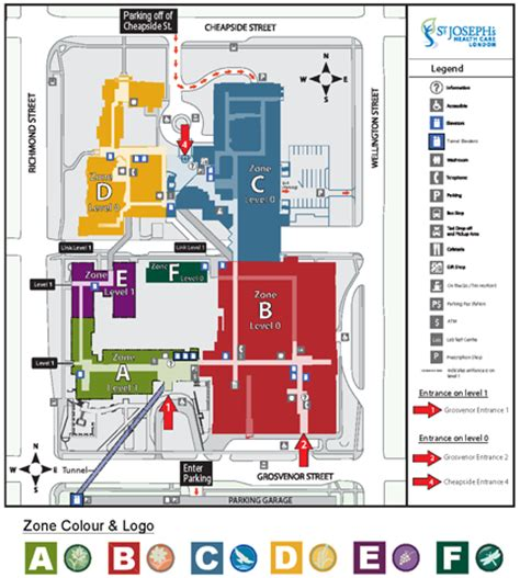 st joseph hospital floor plan st joseph s hospital site map st joseph s health care
