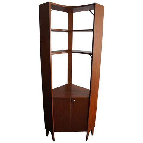 Modern Corner Bookcase Mid Century Modern Scandinavian Design Corner Cabinet Bookcase Or Stereo Cabinet For Sale At 1stdibs